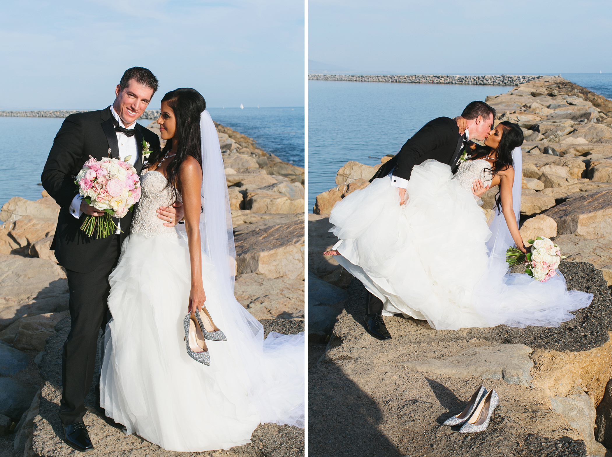 Dana Point Yacht Club Wedding Bride and Groom