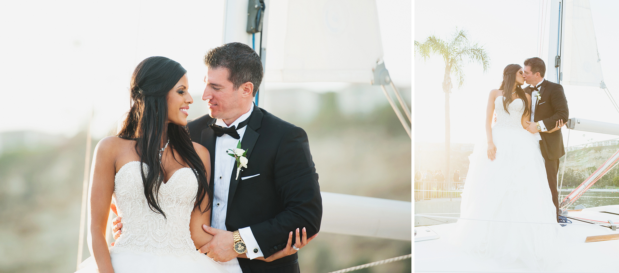 Dana Point Yacht Club Wedding Sailboat